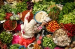 selling fresh vegetables at katmandu bazaar